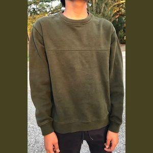 Men's Olive Green Van Heusen Crew Neck Sweater